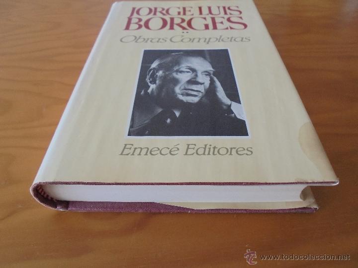 Libros de segunda mano: JORGE LUIS BORGES. OBRAS COMPLETAS. TOMOS I, II Y IV. ED. EMECE. VER FOTOGRAFÍAS. - Foto 44 - 57317467