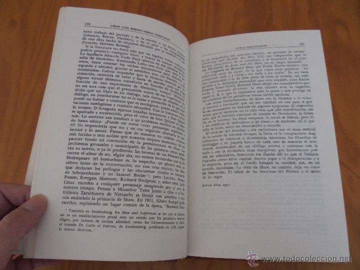 Libros de segunda mano: JORGE LUIS BORGES. OBRAS COMPLETAS. TOMOS I, II Y IV. ED. EMECE. VER FOTOGRAFÍAS. - Foto 52 - 57317467