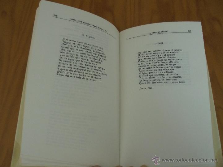 Libros de segunda mano: JORGE LUIS BORGES. OBRAS COMPLETAS. TOMOS I, II Y IV. ED. EMECE. VER FOTOGRAFÍAS. - Foto 55 - 57317467