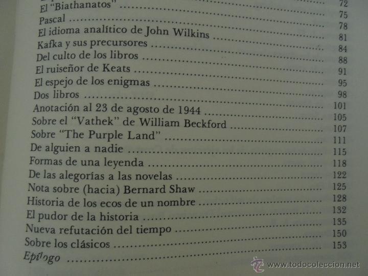 Libros de segunda mano: JORGE LUIS BORGES. OBRAS COMPLETAS. TOMOS I, II Y IV. ED. EMECE. VER FOTOGRAFÍAS. - Foto 57 - 57317467