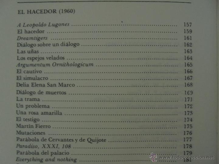 Libros de segunda mano: JORGE LUIS BORGES. OBRAS COMPLETAS. TOMOS I, II Y IV. ED. EMECE. VER FOTOGRAFÍAS. - Foto 58 - 57317467