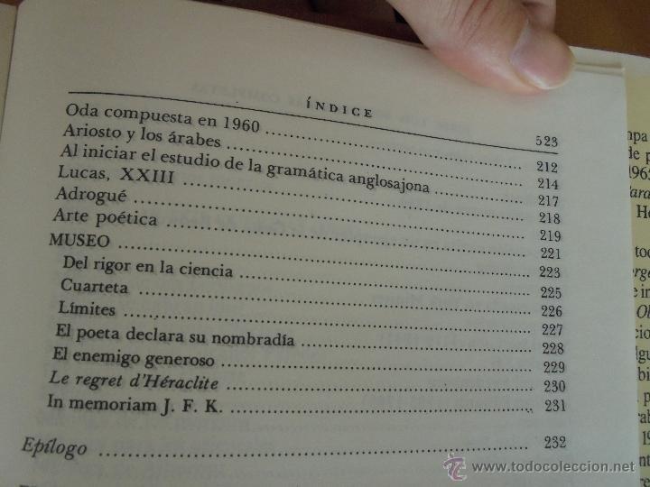Libros de segunda mano: JORGE LUIS BORGES. OBRAS COMPLETAS. TOMOS I, II Y IV. ED. EMECE. VER FOTOGRAFÍAS. - Foto 61 - 57317467