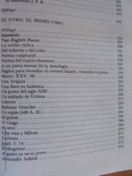Libros de segunda mano: JORGE LUIS BORGES. OBRAS COMPLETAS. TOMOS I, II Y IV. ED. EMECE. VER FOTOGRAFÍAS. - Foto 62 - 57317467