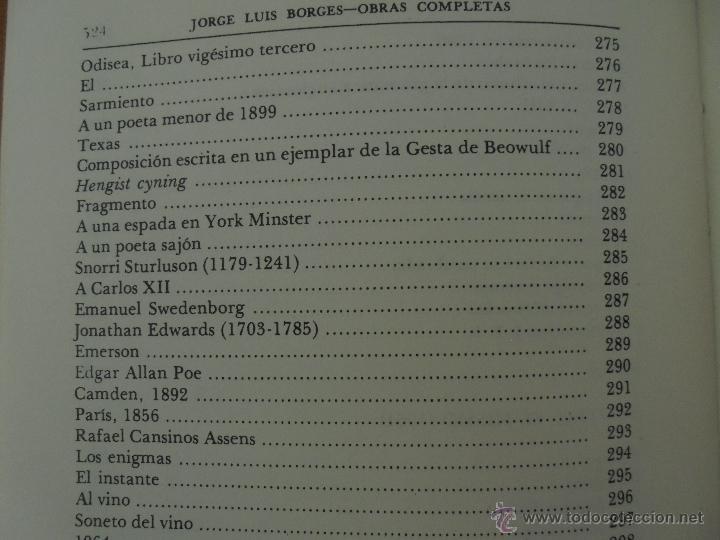 Libros de segunda mano: JORGE LUIS BORGES. OBRAS COMPLETAS. TOMOS I, II Y IV. ED. EMECE. VER FOTOGRAFÍAS. - Foto 63 - 57317467