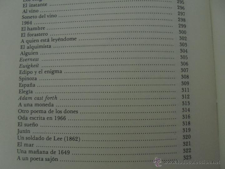 Libros de segunda mano: JORGE LUIS BORGES. OBRAS COMPLETAS. TOMOS I, II Y IV. ED. EMECE. VER FOTOGRAFÍAS. - Foto 64 - 57317467