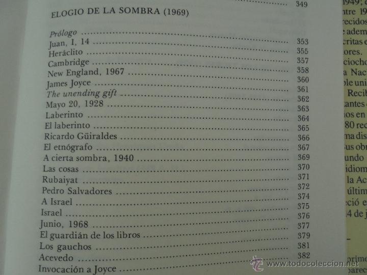 Libros de segunda mano: JORGE LUIS BORGES. OBRAS COMPLETAS. TOMOS I, II Y IV. ED. EMECE. VER FOTOGRAFÍAS. - Foto 66 - 57317467