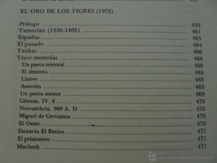 Libros de segunda mano: JORGE LUIS BORGES. OBRAS COMPLETAS. TOMOS I, II Y IV. ED. EMECE. VER FOTOGRAFÍAS. - Foto 68 - 57317467