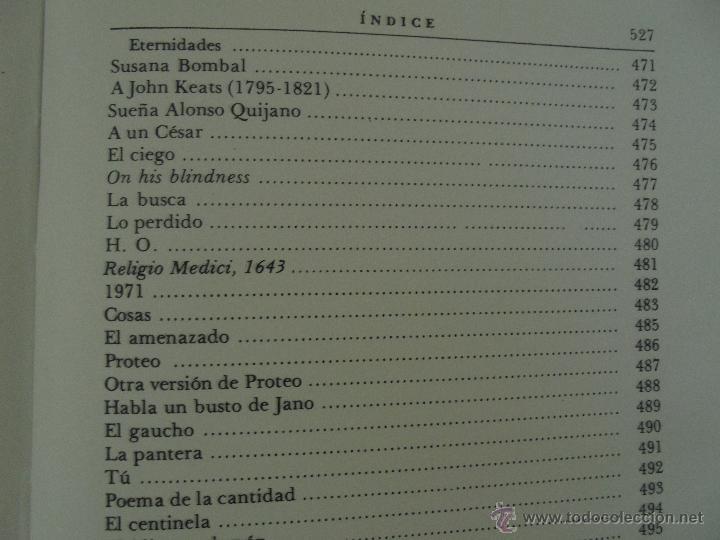 Libros de segunda mano: JORGE LUIS BORGES. OBRAS COMPLETAS. TOMOS I, II Y IV. ED. EMECE. VER FOTOGRAFÍAS. - Foto 69 - 57317467
