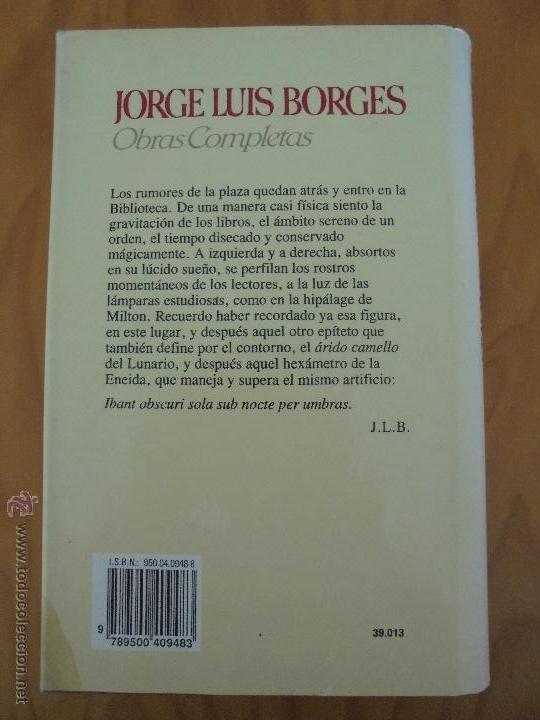 Libros de segunda mano: JORGE LUIS BORGES. OBRAS COMPLETAS. TOMOS I, II Y IV. ED. EMECE. VER FOTOGRAFÍAS. - Foto 71 - 57317467