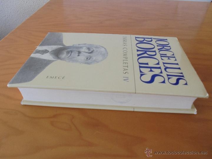 Libros de segunda mano: JORGE LUIS BORGES. OBRAS COMPLETAS. TOMOS I, II Y IV. ED. EMECE. VER FOTOGRAFÍAS. - Foto 73 - 57317467