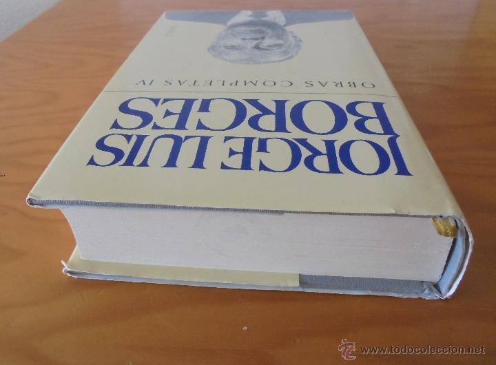 Libros de segunda mano: JORGE LUIS BORGES. OBRAS COMPLETAS. TOMOS I, II Y IV. ED. EMECE. VER FOTOGRAFÍAS. - Foto 74 - 57317467