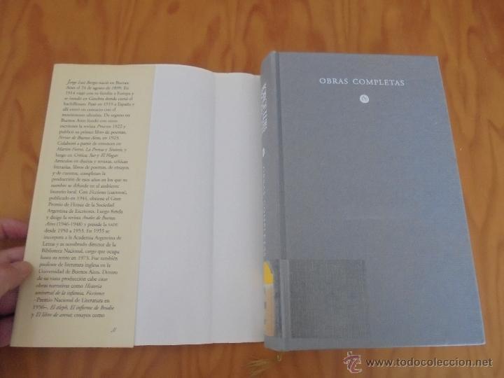 Libros de segunda mano: JORGE LUIS BORGES. OBRAS COMPLETAS. TOMOS I, II Y IV. ED. EMECE. VER FOTOGRAFÍAS. - Foto 76 - 57317467