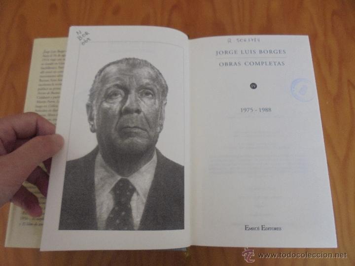 Libros de segunda mano: JORGE LUIS BORGES. OBRAS COMPLETAS. TOMOS I, II Y IV. ED. EMECE. VER FOTOGRAFÍAS. - Foto 79 - 57317467