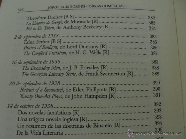 Libros de segunda mano: JORGE LUIS BORGES. OBRAS COMPLETAS. TOMOS I, II Y IV. ED. EMECE. VER FOTOGRAFÍAS. - Foto 100 - 57317467