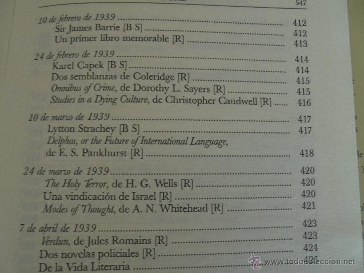 Libros de segunda mano: JORGE LUIS BORGES. OBRAS COMPLETAS. TOMOS I, II Y IV. ED. EMECE. VER FOTOGRAFÍAS. - Foto 102 - 57317467