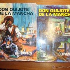 Libros de segunda mano: DON QUIJOTE DE LA MANCHA (2 TOMOS). MIGUEL DE CERVANTES. EDIT. PETRONIO 1973. Lote 50979944