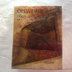 Libros de segunda mano: 2 -VOLÚMENES CERVANTES - OBRAS COMPLETAS. Lote 51181123