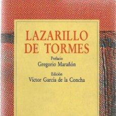 Libros de segunda mano: LAZARILLO DE TORMES / PREFACIO, GREGORIO MARAÑÓN ; EDICIÓN, VÍCTOR GARCÍA DE LA CONCHA * AUSTRAL *. Lote 51197280
