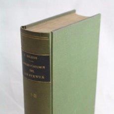 Libros de segunda mano: LIBRO PAPELES PÓSTUMOS DEL CLUB PICKWICK. CARLOS / CHARLES DICKENS - ED. CALPE, AÑO 1922. Lote 51419915