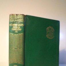 Libros de segunda mano: OBRAS COMPLETAS TOMO II. CASONA, ALEJANDRO. AGUILAR, MADRID, 1959.. Lote 51743931
