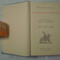Libros de segunda mano: CERVANTES. DON QUIJOTE DE LA MANCHA. TEXTO Y NOTAS DE MARTIN DE RIQUER. 1950. Lote 51792066