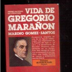Libros de segunda mano: VIDA DE GREGORIO MARAÑON . Lote 52279237