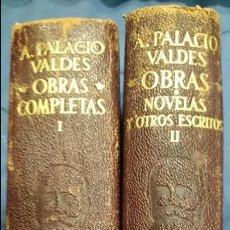 Libros de segunda mano: A. PALACIO VALDES. OBRAS. 2 VOLUMENES. AGUILAR TOMO I. 1956. TOMO II. 1952.. Lote 52805459