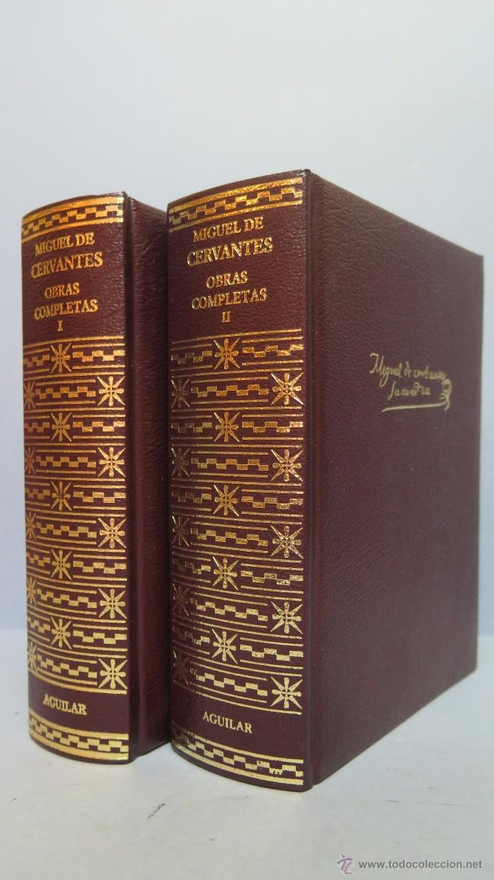 2003.- OBRAS COMPLETAS. MIGUEL DE CERVANTES. AGUILAR (Libros de Segunda Mano (posteriores a 1936) - Literatura - Narrativa - Clásicos)
