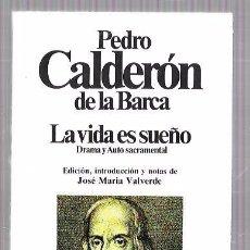 Libros de segunda mano: PEDRO CALDERÓN DE LA BARCA. LA VIDA ES SUEÑO.EDIT. PLANETA. BARCELONA, 1981. 182PAGS. 17,8 X 11,5 CM. Lote 52959818