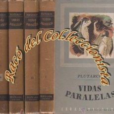 Libros de segunda mano: VIDAS PARALELAS (4 TOMOS), PLUTARCO, EDITORIAL IBERIA/GIL, OBRAS MAESTRAS, 1944. Lote 53275582