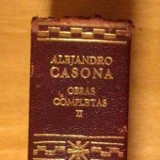 Libros de segunda mano: AGUILAR - ALEJANDRO CASONA - OBRAS COMPLETAS TOMO 2 - 1967. Lote 53287923