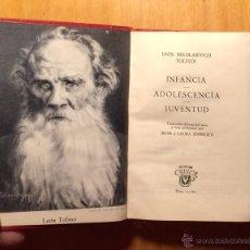 Libros de segunda mano: AGUILAR CRISOL - LEON TOLSTOI - INFANCIA ADOLESCENCIA JUVENTUD - 1960. Lote 53301247