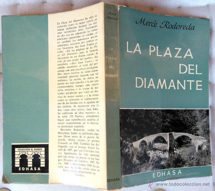 LIBRO-LA PLAZA DEL DIAMANTE- 1ª EDICION EN CASTELLANO, AÑO 1965 MERCE RODOREDA,CATALUÑA, PLAÇA (Libros de Segunda Mano (posteriores a 1936) - Literatura - Narrativa - Clásicos)