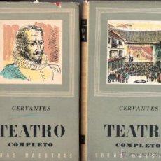 Libros de segunda mano: CERVANTES : TEATRO COMPLETO - DOS TOMOS (IBERIA, 1966). Lote 53562425