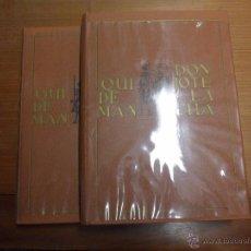 Libros de segunda mano: DON QUIJOTE DE LA MANCHA. M. DE CERVANTES. 2 TOMOS CON ESTUCHE. NAUTA 1965. Lote 53638835