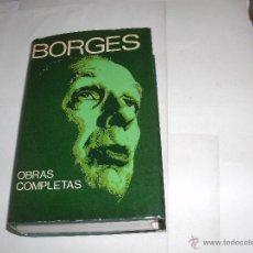 Libros de segunda mano: JORGE L. BORGES - OBRAS COMPLETAS - FIRMADO -. Lote 53668792