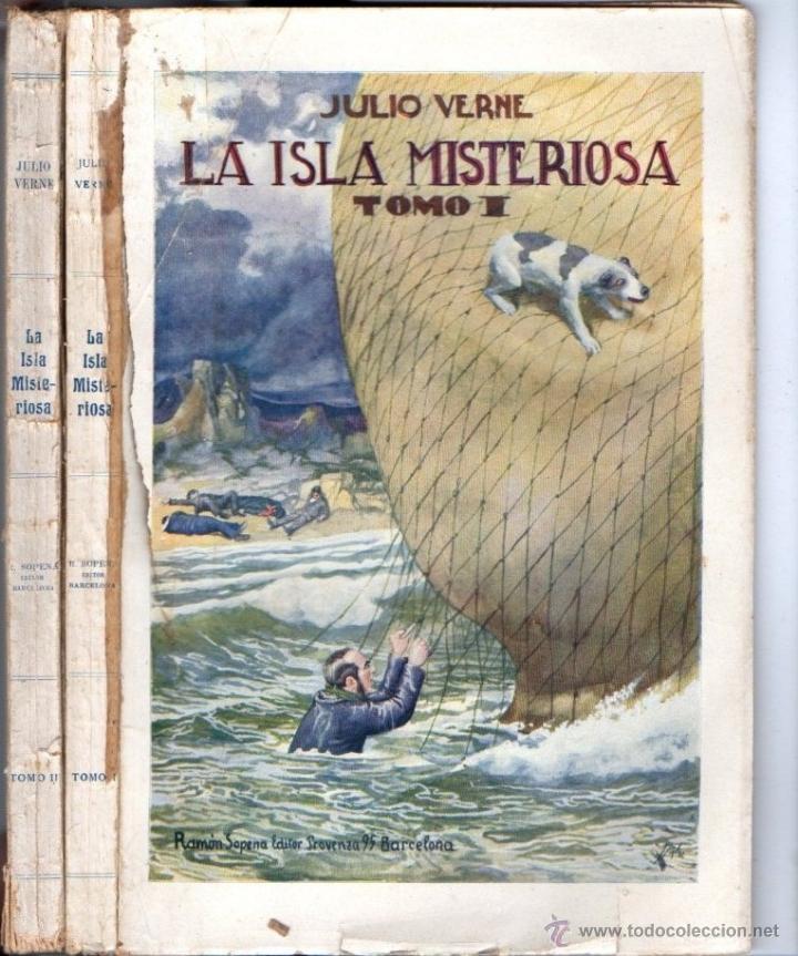 Libros de segunda mano: JULIO VERNE : LA ISLA MISTERIOSA - DOS TOMOS (SOPENA, 1941) - Foto 2 - 61789551