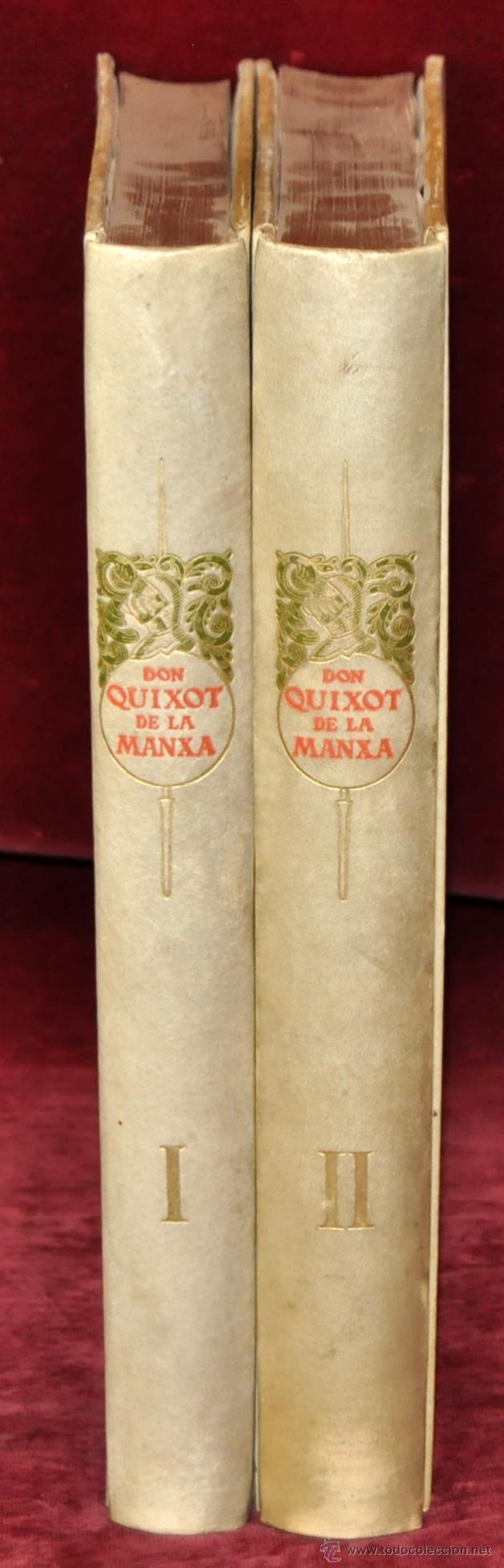 Libros de segunda mano: L'ENGINYOS CAVALLER DON QUIXOT DE LA MANXA. CERVANTES. EDIT. OCTAVI VIADER. 2 TOMOS. QUIJOTE MANCHA - Foto 3 - 54123283