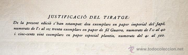 Libros de segunda mano: L'ENGINYOS CAVALLER DON QUIXOT DE LA MANXA. CERVANTES. EDIT. OCTAVI VIADER. 2 TOMOS. QUIJOTE MANCHA - Foto 6 - 54123283