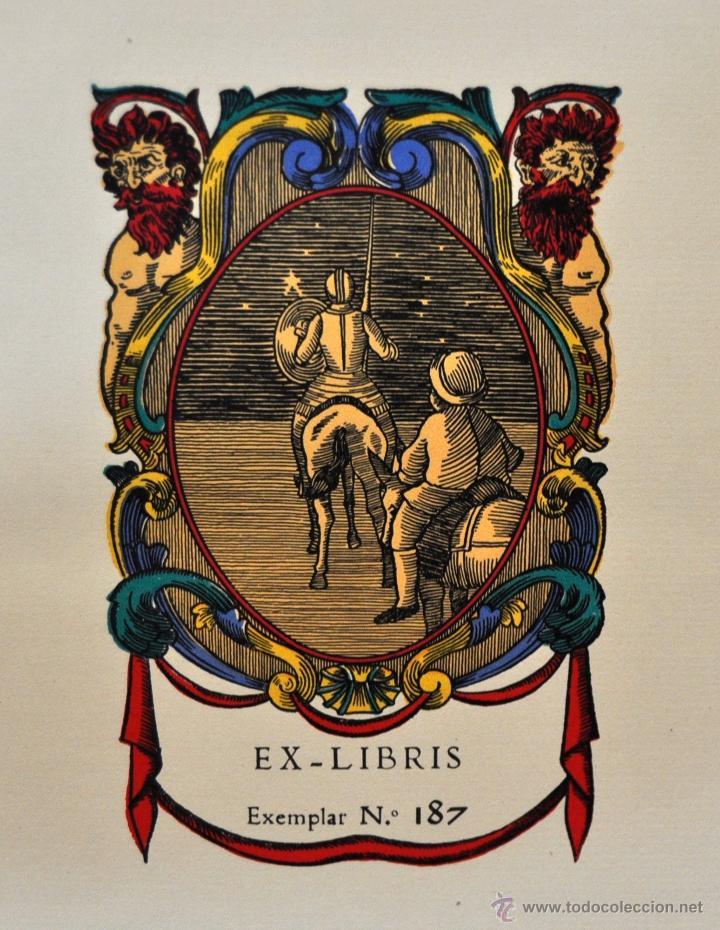 Libros de segunda mano: L'ENGINYOS CAVALLER DON QUIXOT DE LA MANXA. CERVANTES. EDIT. OCTAVI VIADER. 2 TOMOS. QUIJOTE MANCHA - Foto 7 - 54123283