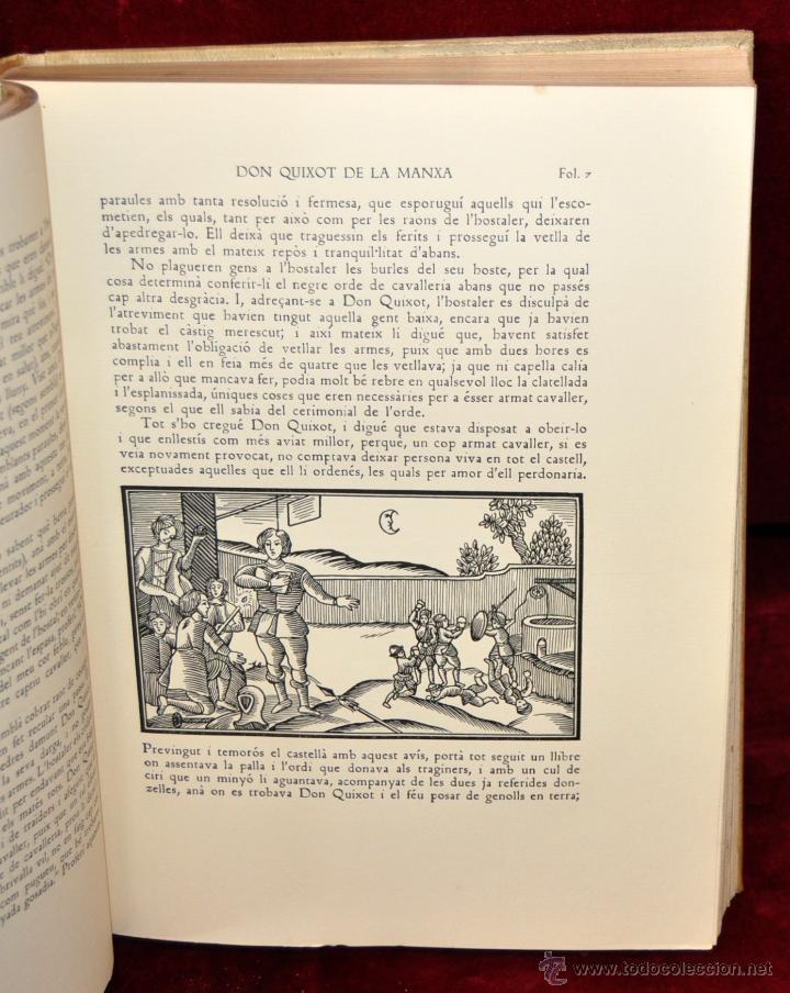 Libros de segunda mano: L'ENGINYOS CAVALLER DON QUIXOT DE LA MANXA. CERVANTES. EDIT. OCTAVI VIADER. 2 TOMOS. QUIJOTE MANCHA - Foto 8 - 54123283