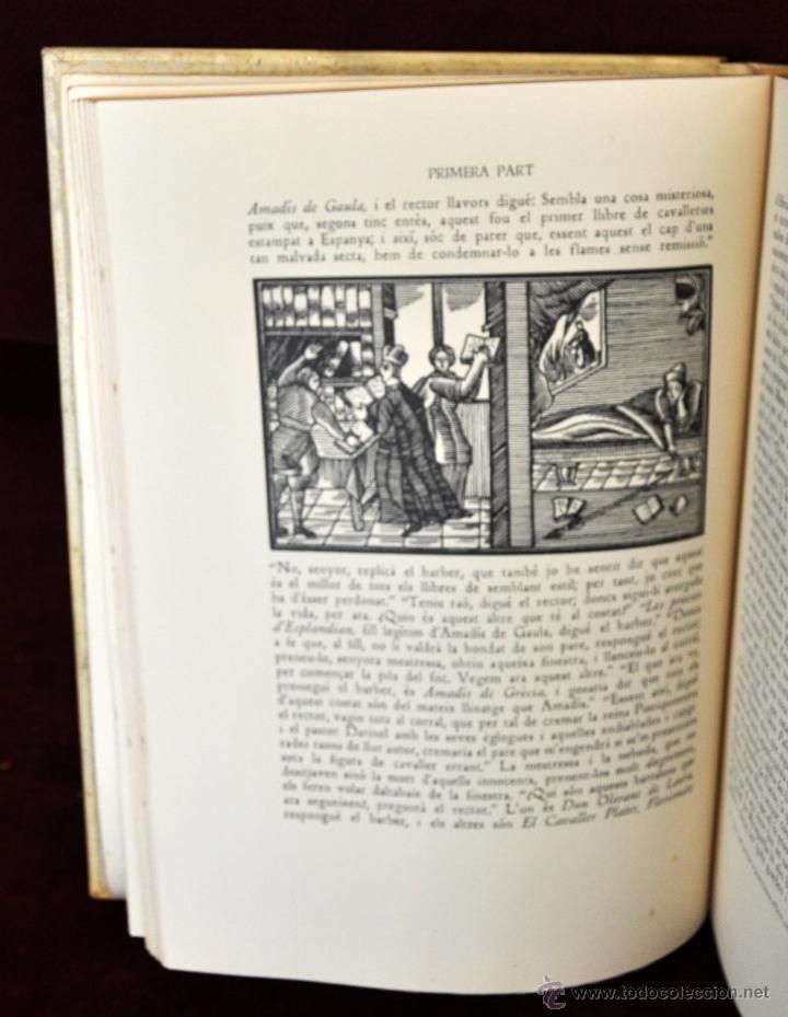 Libros de segunda mano: L'ENGINYOS CAVALLER DON QUIXOT DE LA MANXA. CERVANTES. EDIT. OCTAVI VIADER. 2 TOMOS. QUIJOTE MANCHA - Foto 9 - 54123283