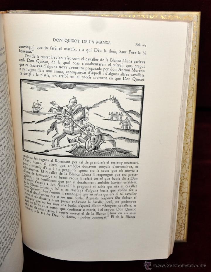 Libros de segunda mano: L'ENGINYOS CAVALLER DON QUIXOT DE LA MANXA. CERVANTES. EDIT. OCTAVI VIADER. 2 TOMOS. QUIJOTE MANCHA - Foto 11 - 54123283