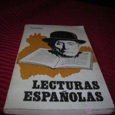 Libros de segunda mano: LIBRO LECTURAS ESPAÑOLAS.AZORÍN . Lote 54155266