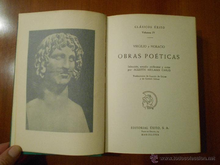 CLASICOS EXITO, OBRAS POETICAS, VIRGILIO, HORACIO (Libros de Segunda Mano (posteriores a 1936) - Literatura - Narrativa - Clásicos)