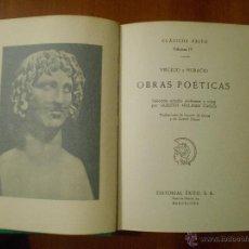 Libros de segunda mano: CLASICOS EXITO, OBRAS POETICAS, VIRGILIO, HORACIO. Lote 54235163
