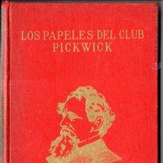 Libros de segunda mano: DICKENS : LOS PAPELES DEL CLUB PICKWICK (PÉREZ DEL HOYO, 1969). Lote 54280104