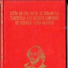 Libros de segunda mano: SHAKESPEARE : SUEÑO DE UNA NOCHE DE VERANO / TEMPESTAD / ALEGRES COMADRES / (PÉREZ DEL HOYO, 1968) . Lote 54280156