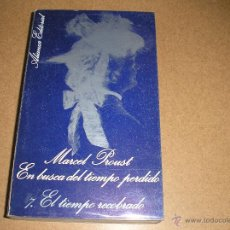 Libros de segunda mano: EN BUSCA DEL TIEMPO PERDIDO 7, EL TIEMPO RECOBRADO.- ALIANZA 1970. Lote 54462511