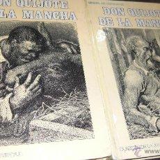 Libros de segunda mano: DON QUIJOTE. CERVANTES.CLÁSICOS JUVENTUD 1977. DOS VOLÚMENES.. Lote 54703860